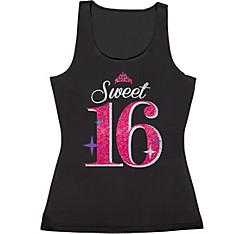 Glitter Celebrate Sweet 16 Tank Top