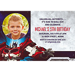 Transformers Core Custom Photo Invitation