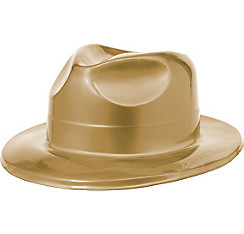 Gold Plastic Fedora