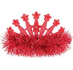 Red Star Tinsel Tiara