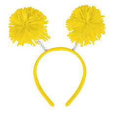 Yellow Pom-Pom Head Bopper