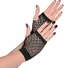 Black Fishnet Glovelettes