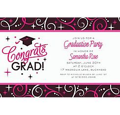 Custom Sparkling Grad Invitations