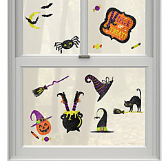 Glitter Witch Vinyl Window Decorations 15ct - Witch's Crew