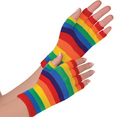 Rainbow Fingerless Gloves