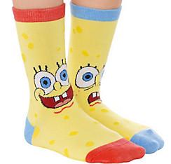 Mismatched SpongeBob Crew Socks
