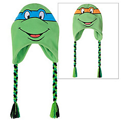 Leonardo & Michelangelo Reversible Peruvian Hat - Teenage Mutant Ninja Turtles