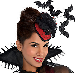 Clip-On Vampire Fascinator Hat Couture