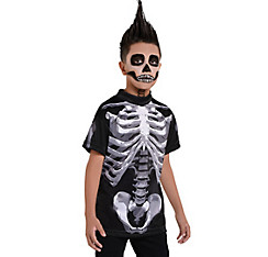 Child Skeleton T-Shirt - Black & Bone