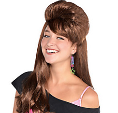 Brown Skool Belle Mullet Wig