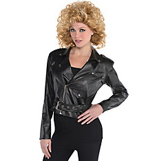 50s Cropped Black Leather Jacket
