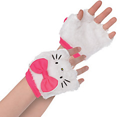 Child Hello Kitty Fingerless Gloves