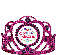 Purple & Teal Pastel Birthday Princess Tiara