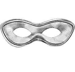 Silver Superhero Eye Mask