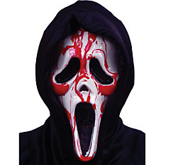 Dripping Blood Ghost Face Mask