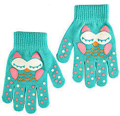 Child Blue Owl Gloves