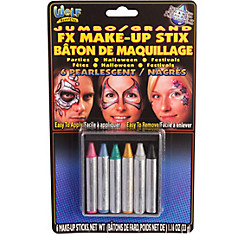 Jumbo Pearlescent Pastel Face Paint Crayons 6ct