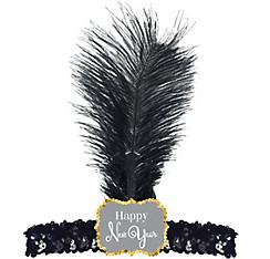 Sequin Happy New Year Flapper Headband