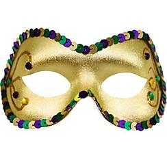 Sequin Gold Mardi Gras Masquerade Mask