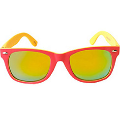 Coral & Yellow Mirrored Sunglasses