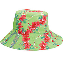 Green Hibiscus Bucket Hat