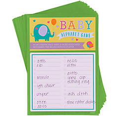 Baby Shower Alphabet Game (A-Z)