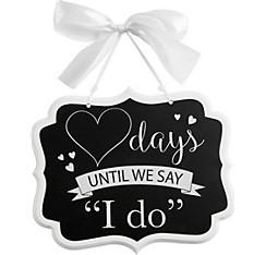 Wedding Countdown Chalkboard Sign