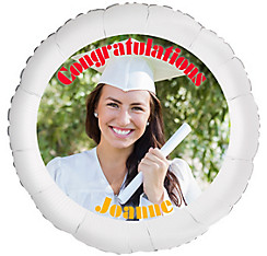 Custom Girl Graduation Photo Balloon