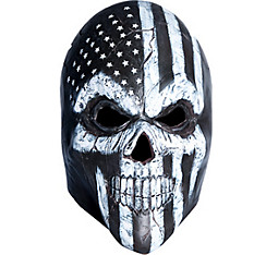 Black & White Scary American Flag Mask