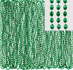 Green Bead Necklaces 24ct