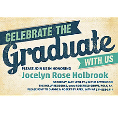 Custom Retro Graduation Invitation