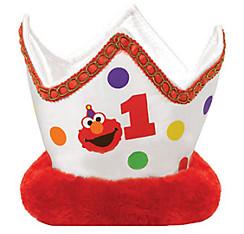 1st Birthday Plush Elmo Crown