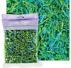 Green & Blue Paper Easter Grass