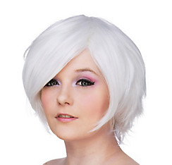 Short White Cosplay Wig