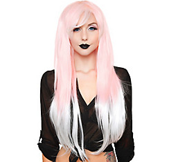 Pink White Ombre Cosplay Wig