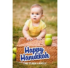 Custom Happy Hanukkah Photo Card
