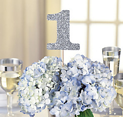 Quick Shop Silver Table Number Centerpiece