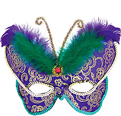Butterfly Feather Mardi Gras Mask
