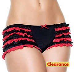 Adult Red Ruffled Boyshorts