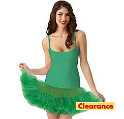 Adult Christmas Green Petticoat Dress