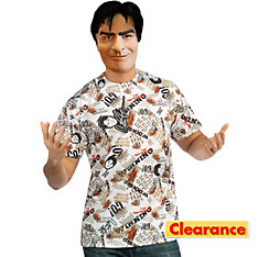 Charlie Sheen Mask and Shirt