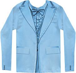Blue Tuxedo Long-Sleeve Shirt