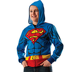 Child Superman Zip-Up Hoodie