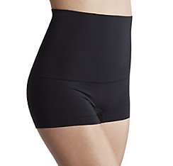 Black Smoothing Control Top Boyshorts