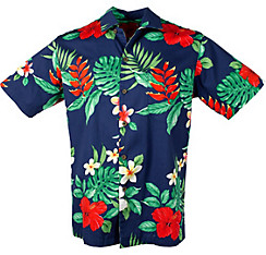 Blue Hibiscus Hawaiian Shirt