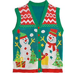 Snowman Ugly Christmas Sweater Vest