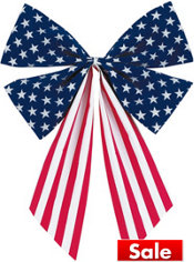 Fabric Flag Bow