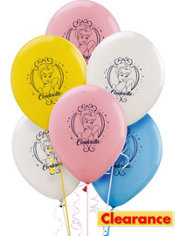 Latex Cinderella Birthday Balloons 12in 6ct