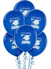 Royal Blue Graduation Balloons 15ct