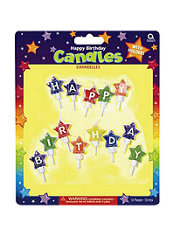 Happy Birthday Star Birthday Candles 13ct